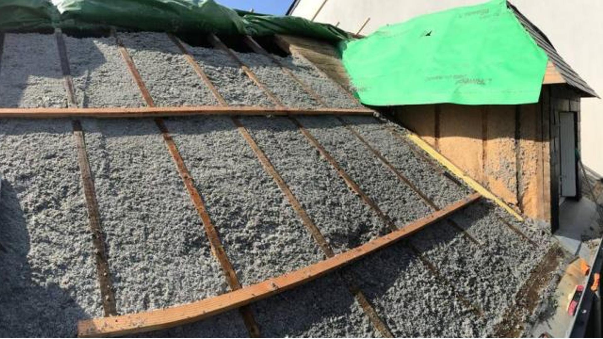 Isolation de la toiture.