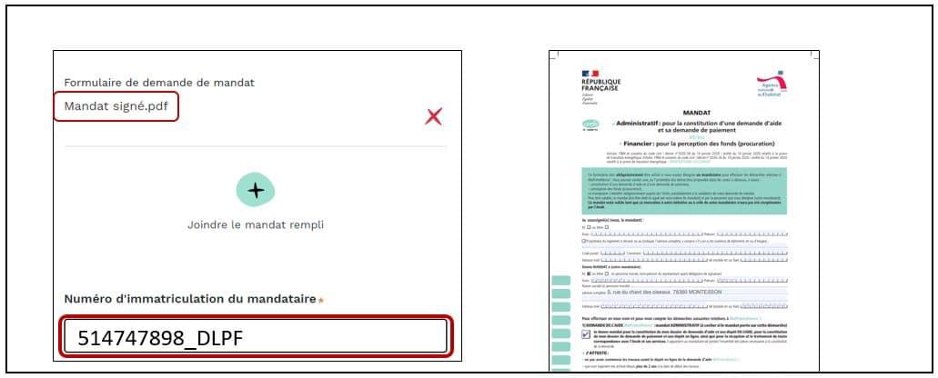 Présentation mandat et immatriculation pour le mandataire MaPrimesRenov